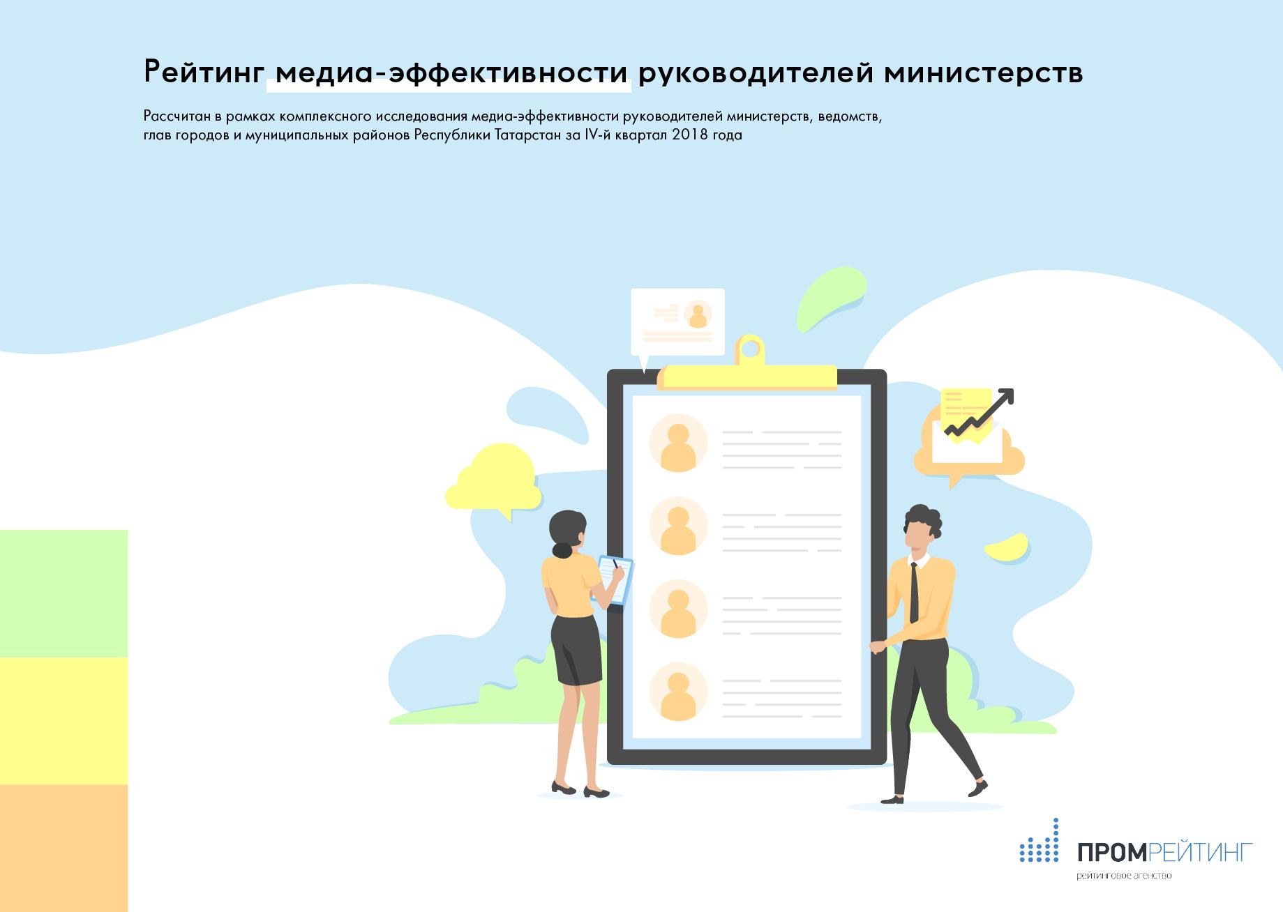 ЕЙТИНГ МЕДИА-ЭФФЕКТИВНОСТИ МИНИСТРОВ РТ