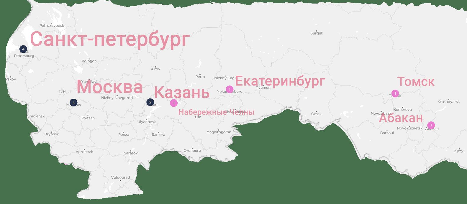 Карта расположения вышек 5G в России 2020