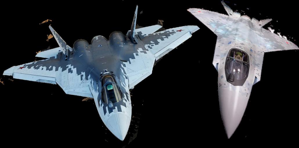 Сравнение размеров Су-57 и Су-75
